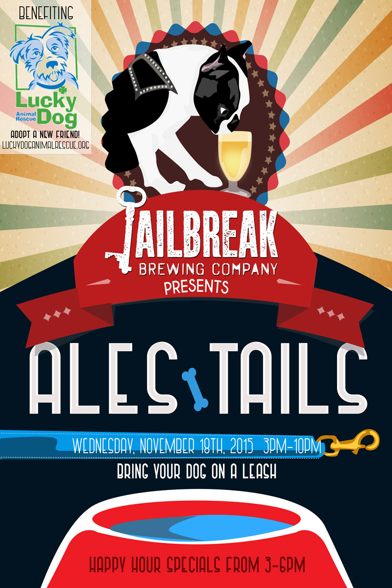 Ales & Tails with Lucky Dog Animal Rescue - Jailbreak