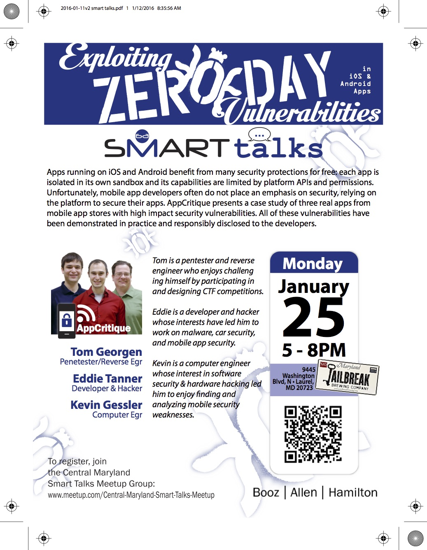 SmartTalks Presents: Exploiting Zeroday Vulnerabilities