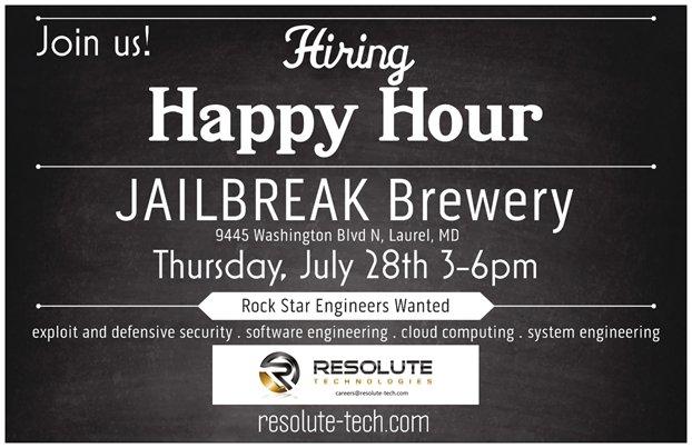 small flyer jailbreak event jailbreak brewing company