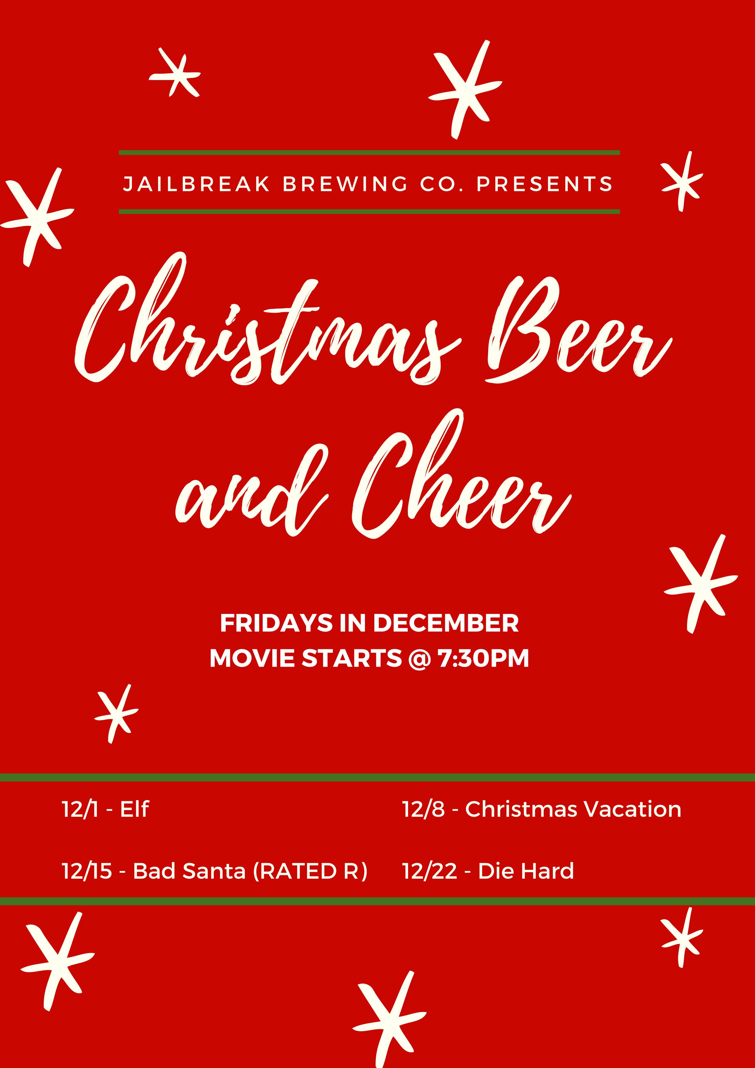 Christmas Beer.Christmas Beer And Cheer Jailbreak Brewing Company