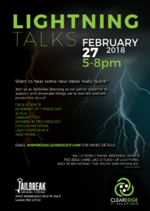 ClearEdge IT Solutions: Lightning Talks