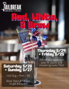 Red, White, & Brew: Memorial Day Weekend Specials