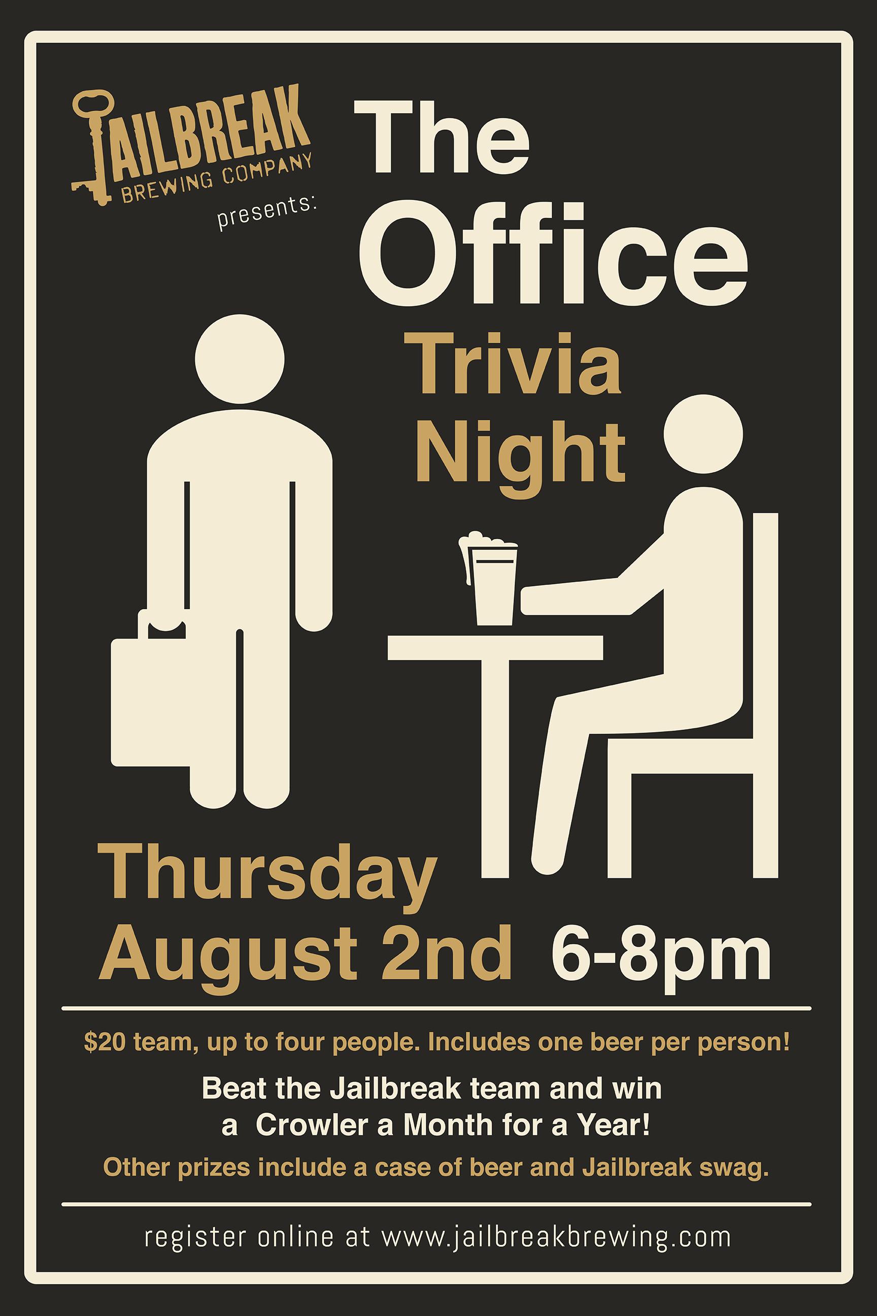 The Office Trivia Night - Jailbreak Brewing Company