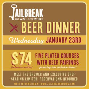 Beer Dinner I: January 2019