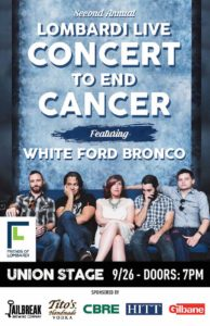 Second Annual Lombardi Live – Concert to End Cancer